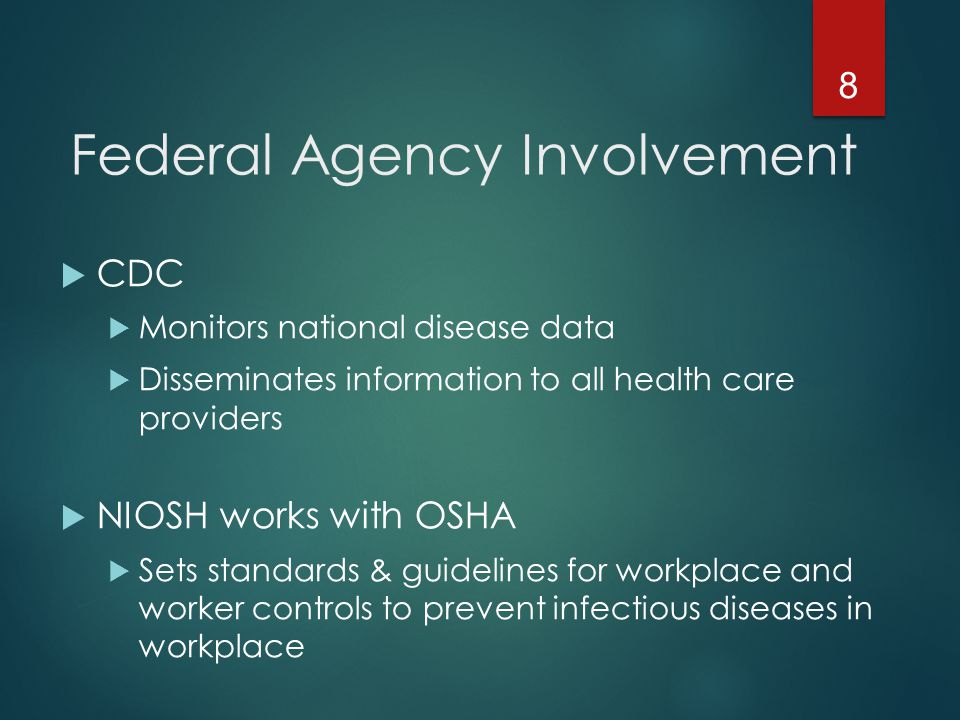 Federal Agency Involvement