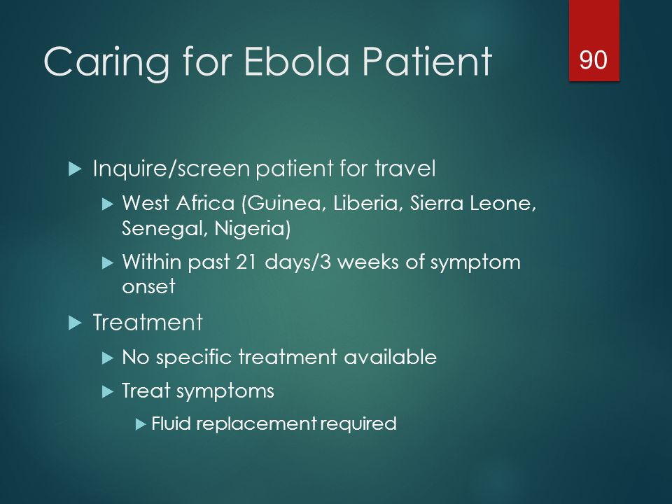 Caring for Ebola Patient