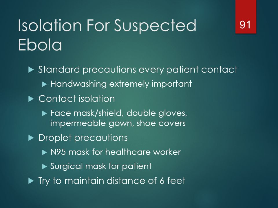 Isolation For Suspected Ebola