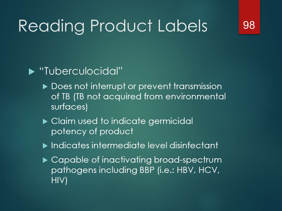 Reading Product Labels