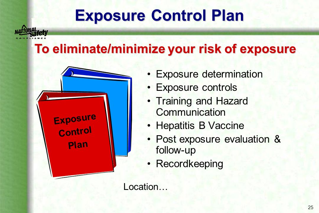To eliminate/minimize your risk of exposure