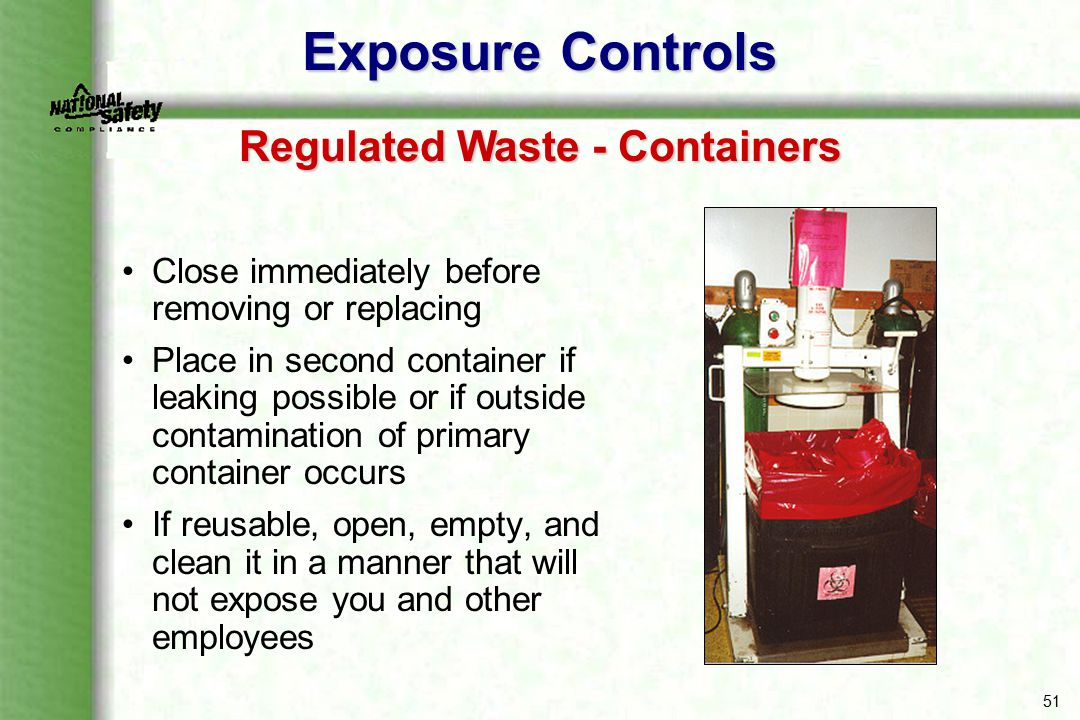 Regulated Waste - Containers