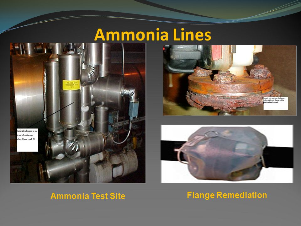 Ammonia Lines Ammonia Test Site Flange Remediation