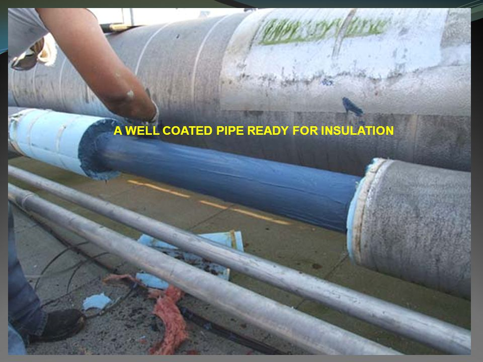 A WELL COATED PIPE READY FOR INSULATION