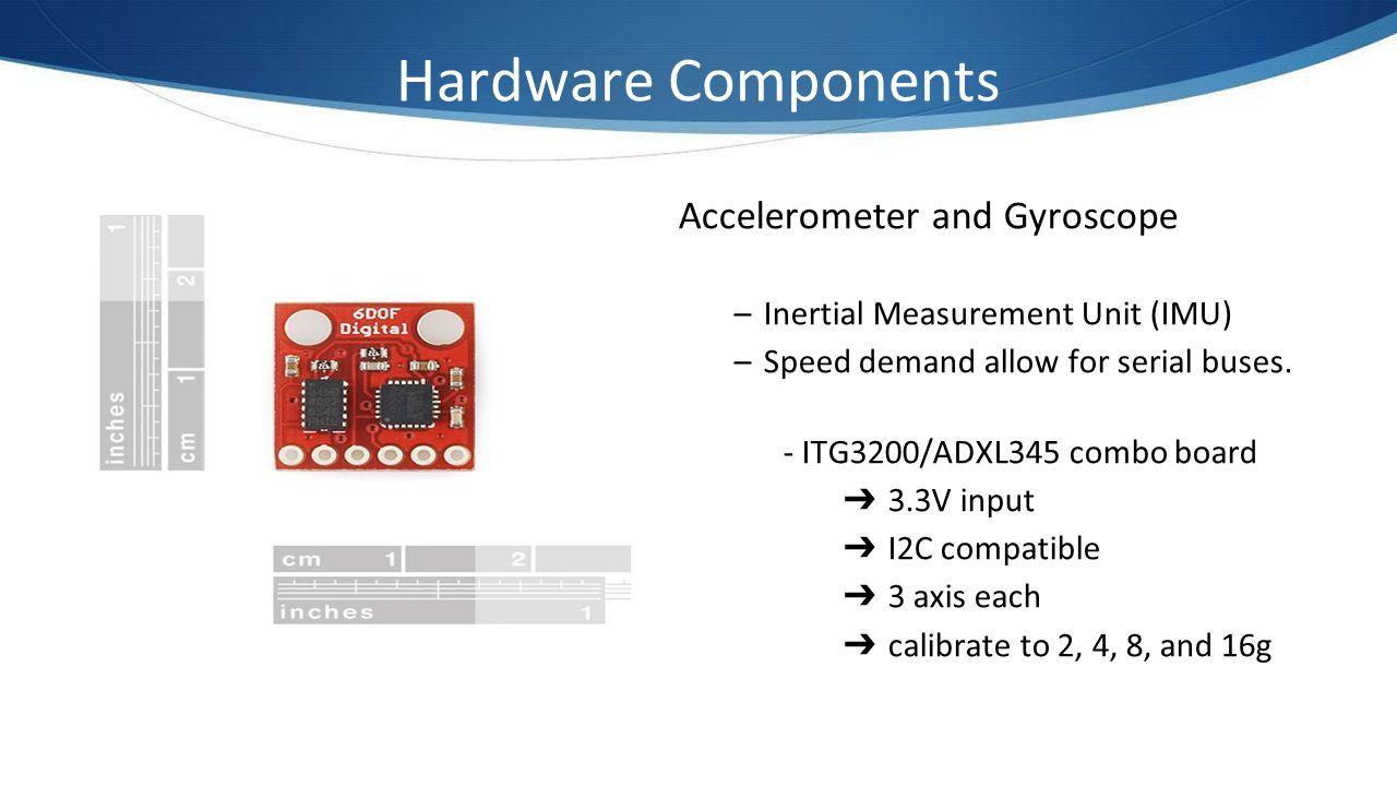 Hardware Components Accelerometer and Gyroscope