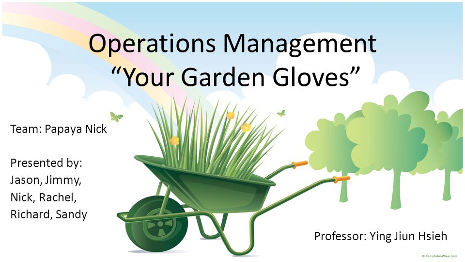 Operations Management Your Garden Gloves