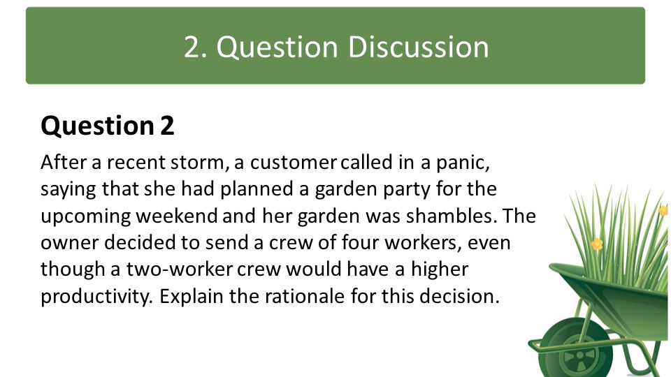 2. Question Discussion Question 2