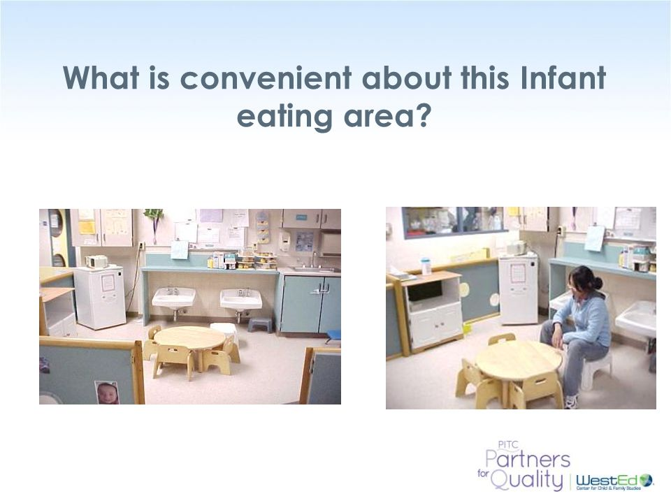 What is convenient about this Infant eating area