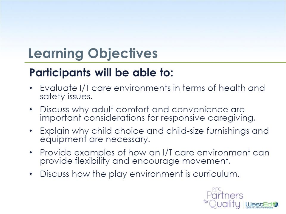 Learning Objectives Participants will be able to: