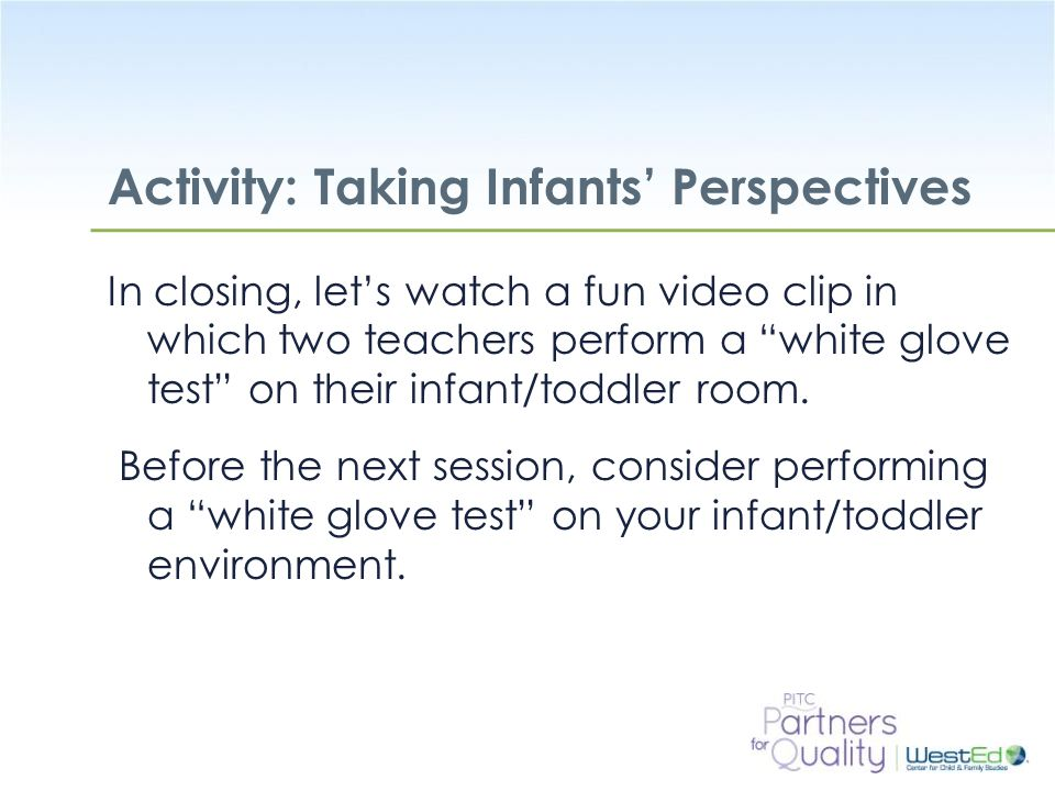 Activity: Taking Infants' Perspectives