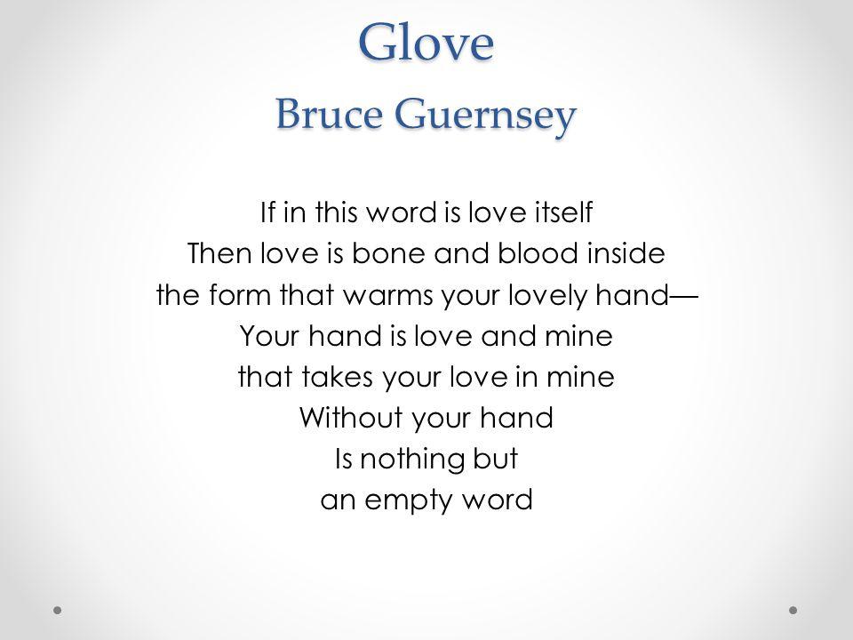 Glove Bruce Guernsey