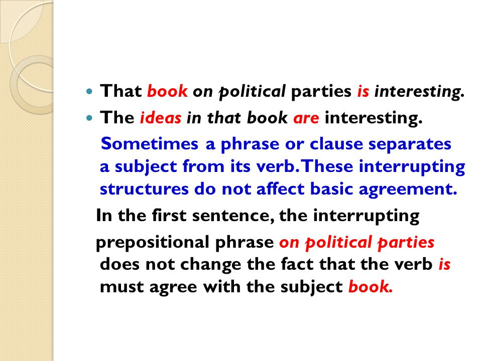 That book on political parties is interesting.