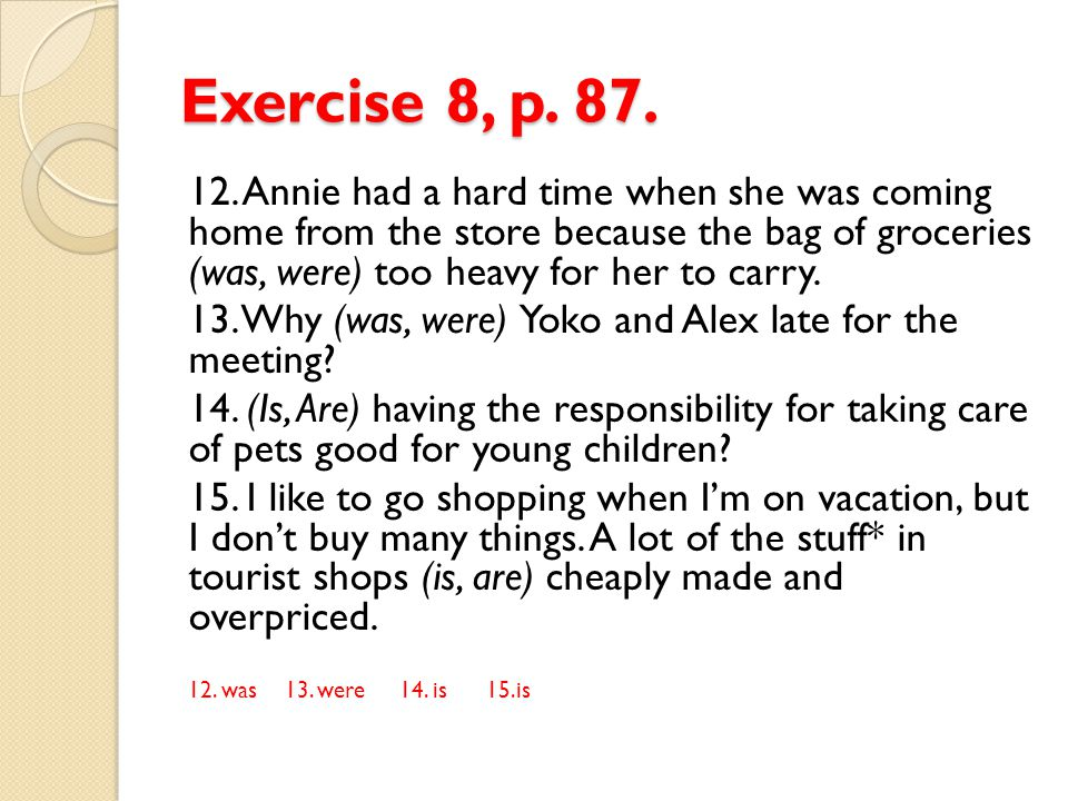 Exercise 8, p. 87.