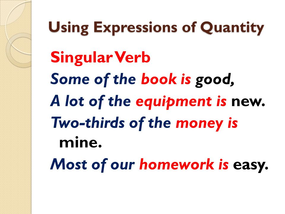 Using Expressions of Quantity