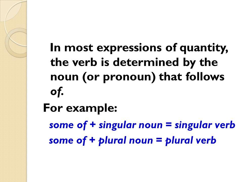 some of + singular noun = singular verb