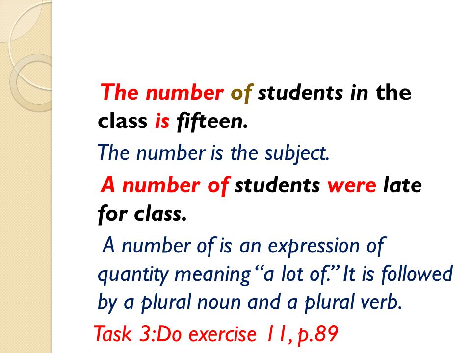 The number of students in the class is fifteen