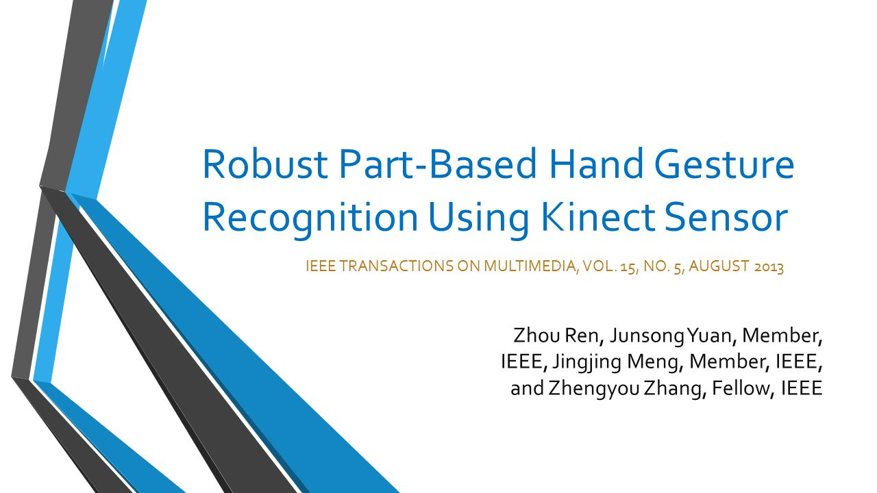 Robust Part-Based Hand Gesture Recognition Using Kinect Sensor