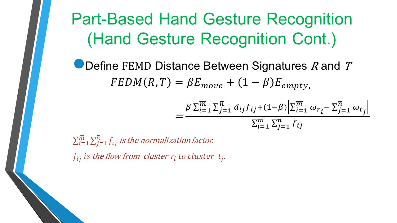Part-Based Hand Gesture Recognition (Hand Gesture Recognition Cont.)