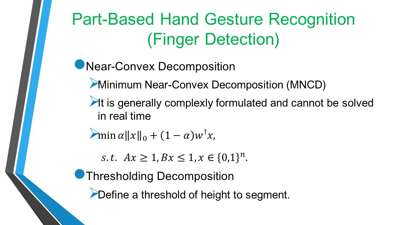 Part-Based Hand Gesture Recognition (Finger Detection)