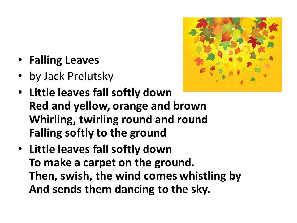 Falling Leaves by Jack Prelutsky.