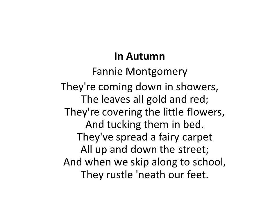 In Autumn Fannie Montgomery.