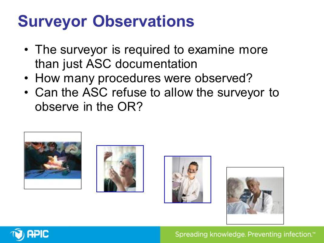 Surveyor Observations