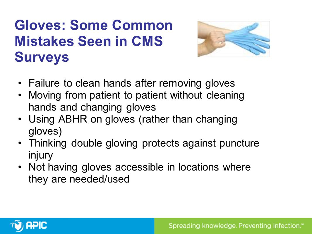 Gloves: Some Common Mistakes Seen in CMS Surveys