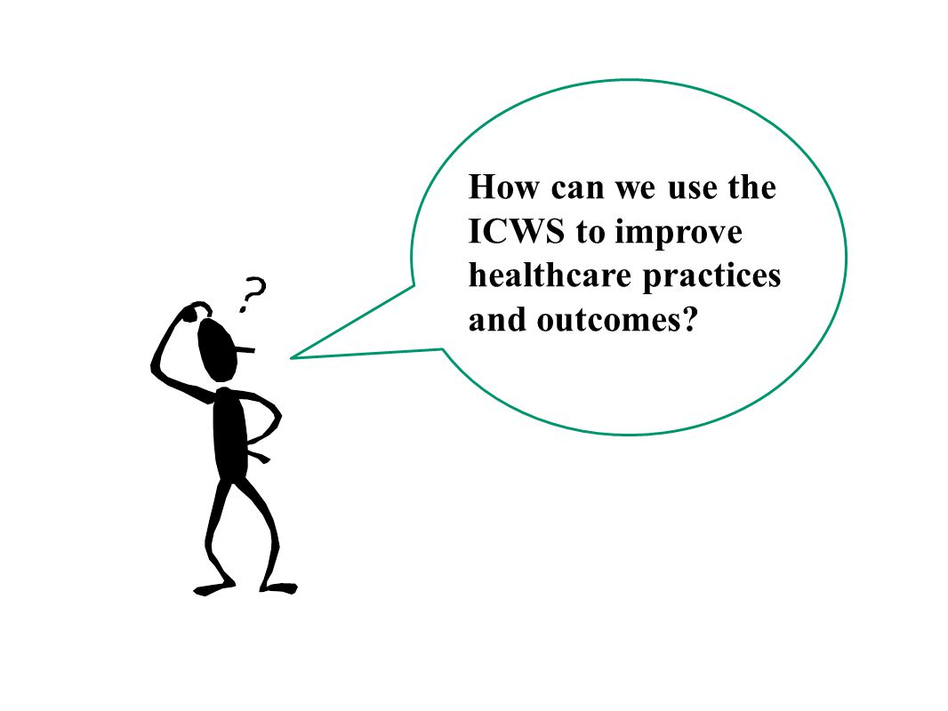 How can we use the ICWS to improve healthcare practices and outcomes