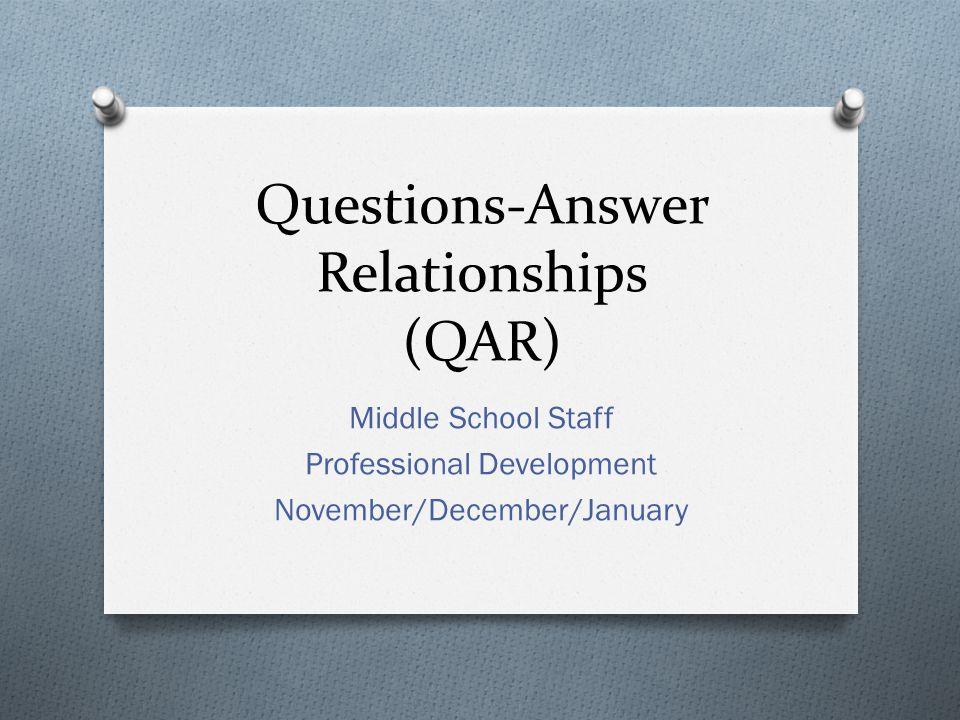 Questions-Answer Relationships (QAR)