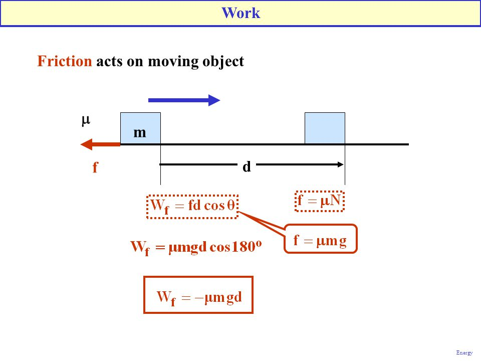Friction acts on moving object