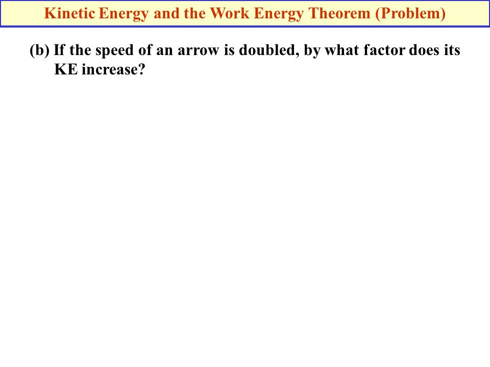 Kinetic Energy and the Work Energy Theorem (Problem)