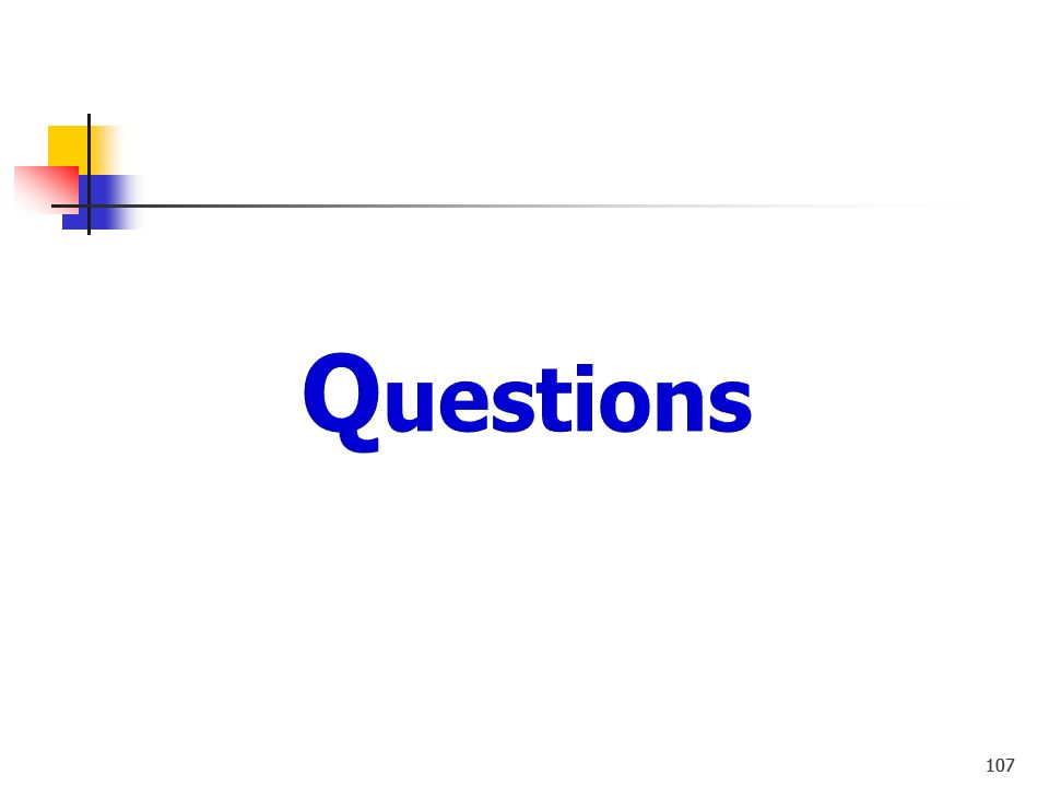 Questions 107