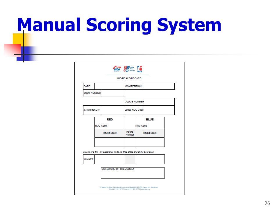 Manual Scoring System