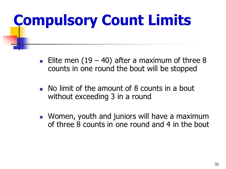 Compulsory Count Limits