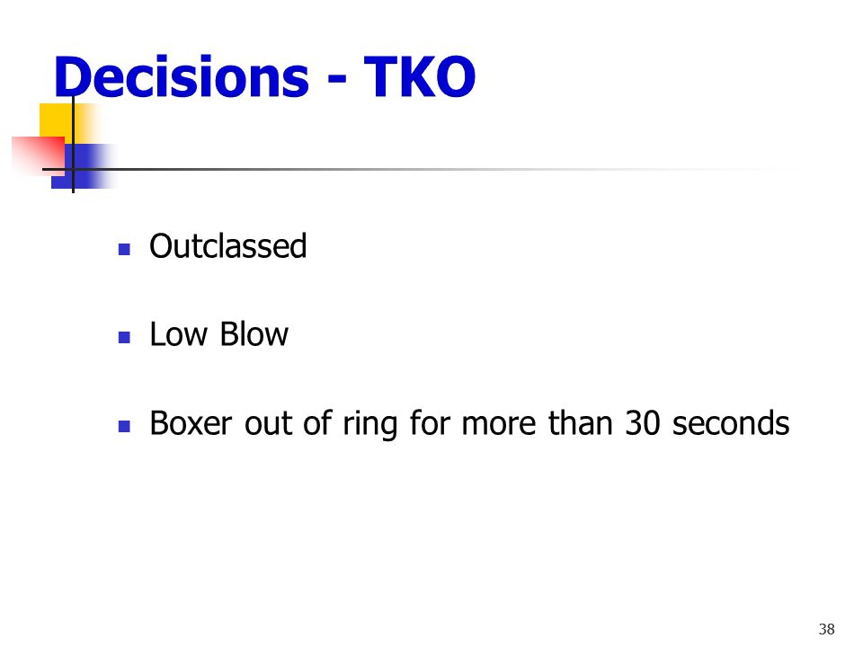 Decisions - TKO Outclassed Low Blow