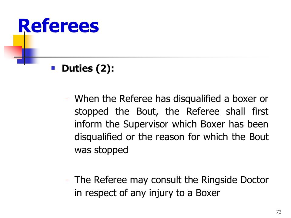 Referees Duties (2):
