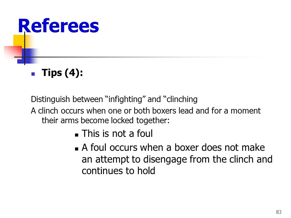 Referees Tips (4): This is not a foul
