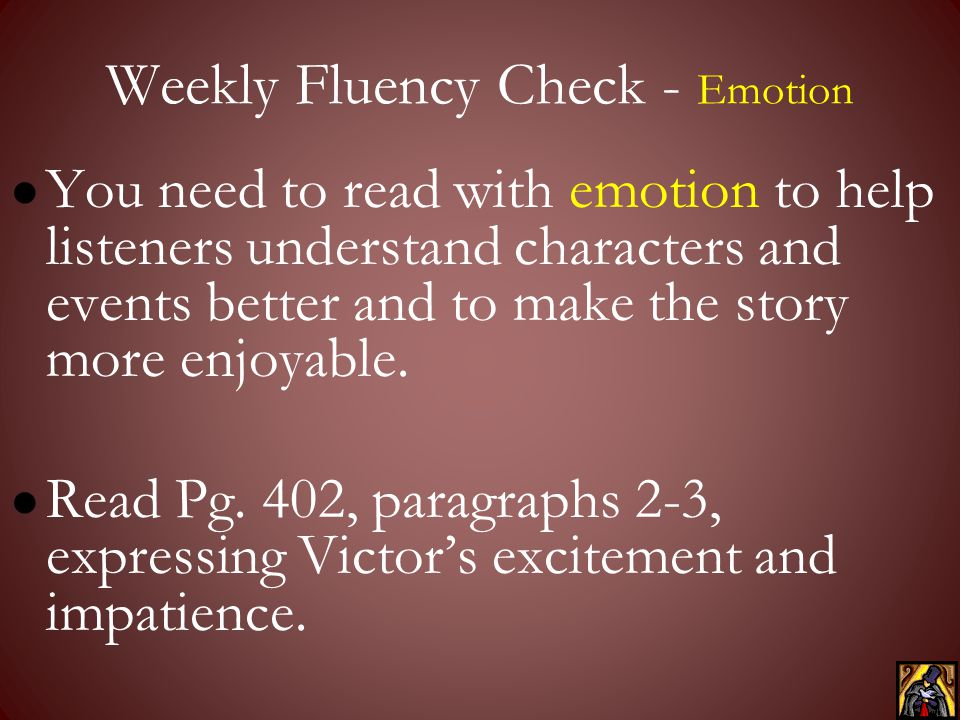 Weekly Fluency Check - Emotion