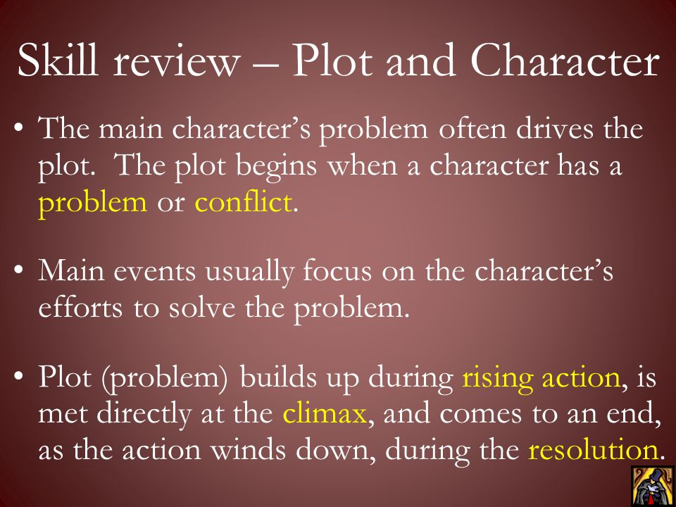 Skill review – Plot and Character