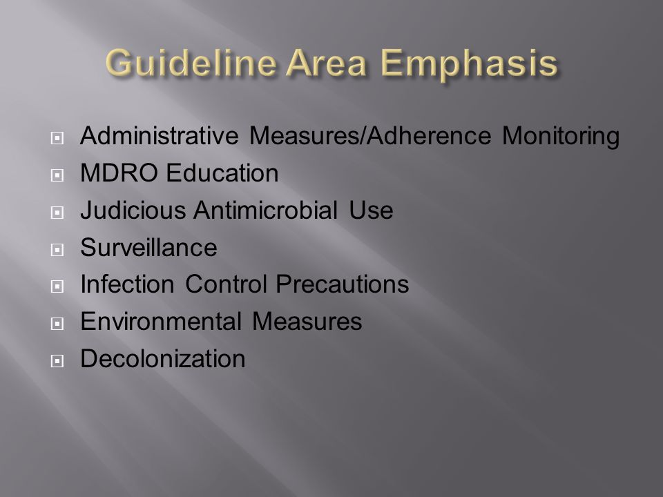 Guideline Area Emphasis