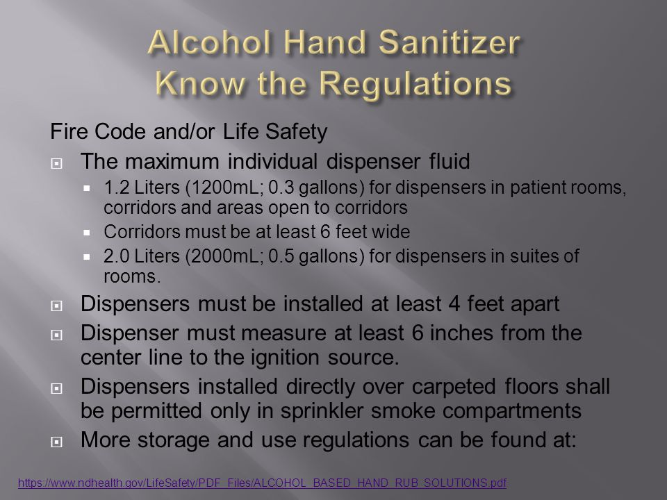 Alcohol Hand Sanitizer Know the Regulations