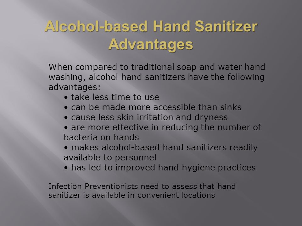 Alcohol-based Hand Sanitizer Advantages