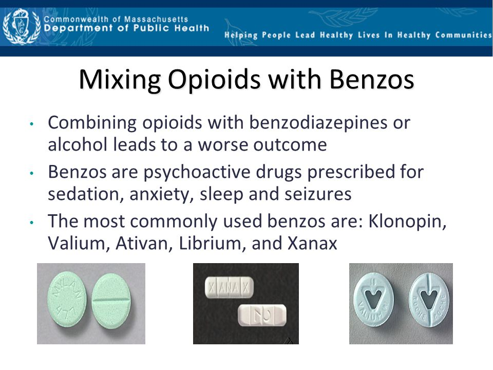 Mixing Opioids with Benzos