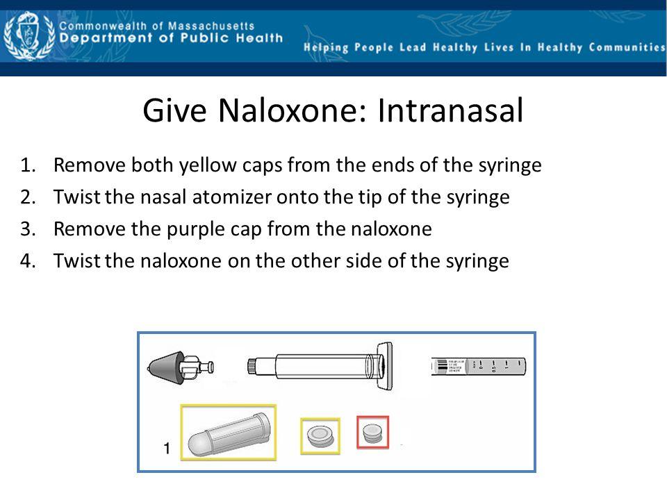 Give Naloxone: Intranasal