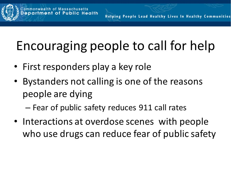 Encouraging people to call for help