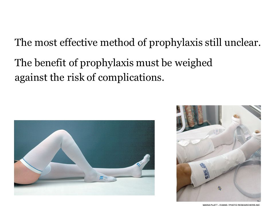 The most effective method of prophylaxis still unclear