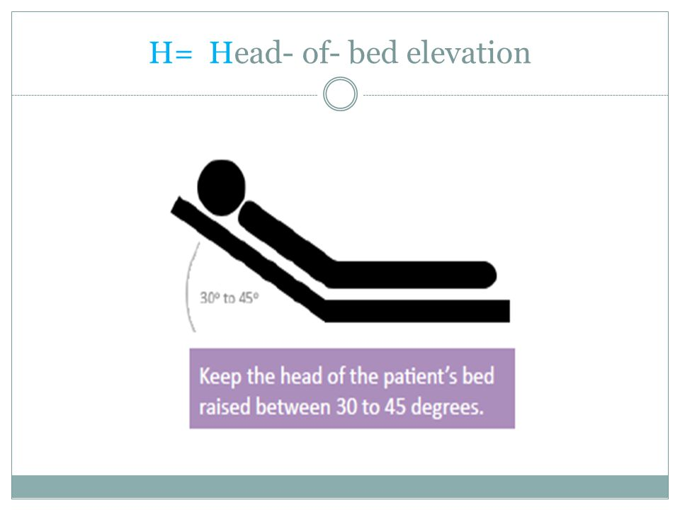 H= Head- of- bed elevation