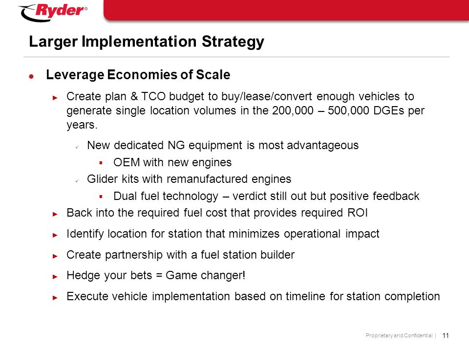 Larger Implementation Strategy