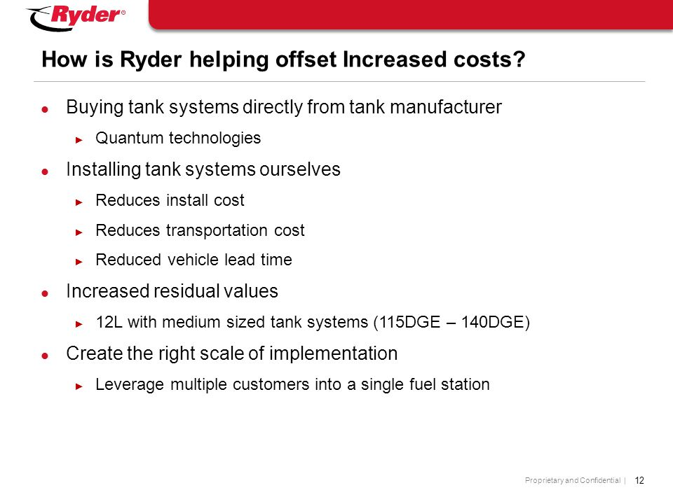 How is Ryder helping offset Increased costs