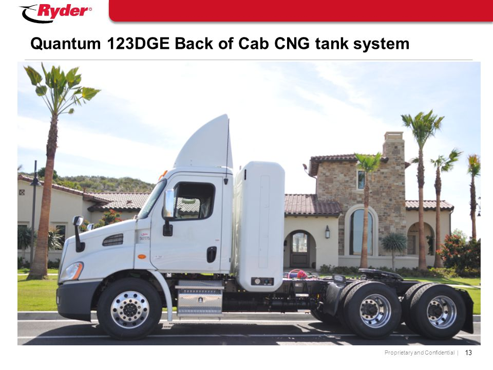 Quantum 123DGE Back of Cab CNG tank system